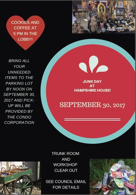 2017-9-30 : JUNK DAY at Hampshire House